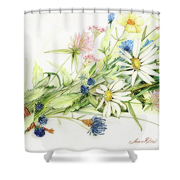 Bouquet Of Wildflowers Shower Curtain