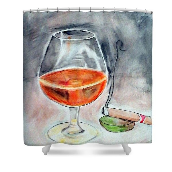Bourbon And Smoke Shower Curtain