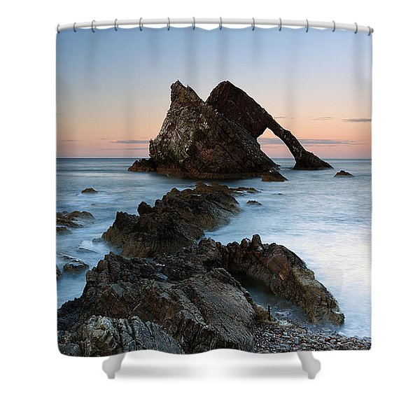 Bow Fiddle Rock At Sunset Shower Curtain