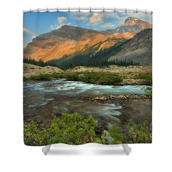 Bow Glacier Falls Trail Shower Curtain