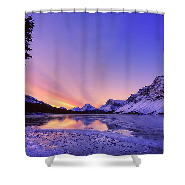 Bow Lake And Pine Shower Curtain