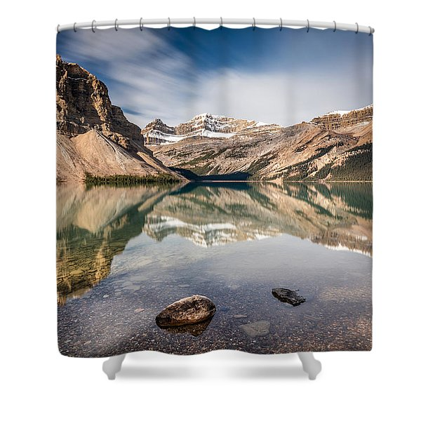 Bow Lake Glorious Reflection Shower Curtain