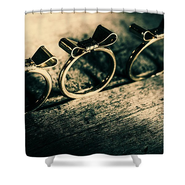 Bow Tie Event Shower Curtain