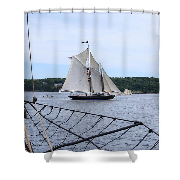 Bowditch Under Full Sail Shower Curtain