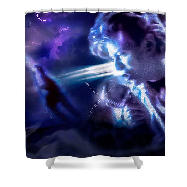 Bowie A Trip To The Stars Shower Curtain