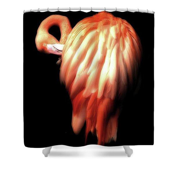Bowie Flamingo Shower Curtain