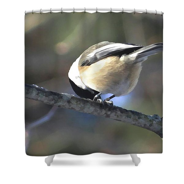 Bowing On A Branch Shower Curtain