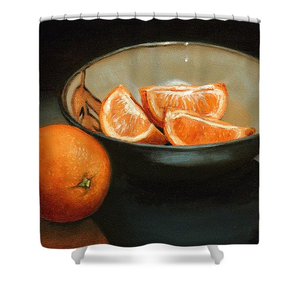 Bowl Of Oranges Shower Curtain