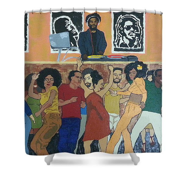 Bowl Train Shower Curtain