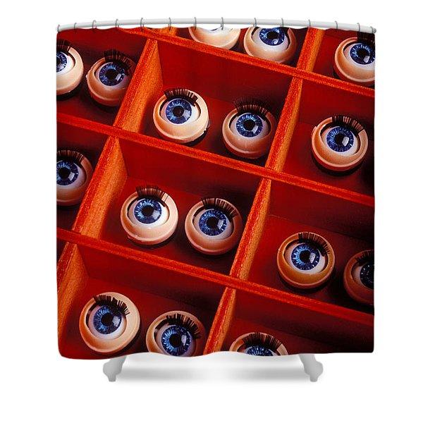 Box Full Of Doll Eyes Shower Curtain