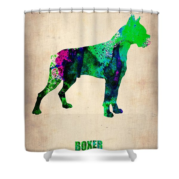 Boxer Poster Shower Curtain