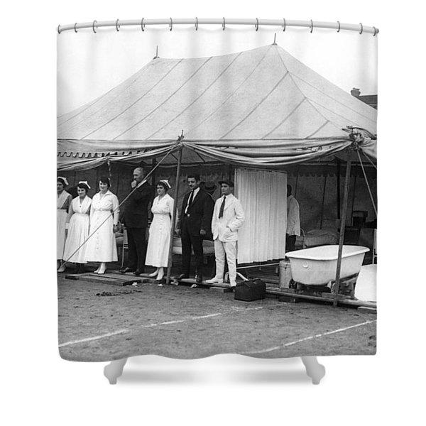 Boxing Match Field Hospital Shower Curtain