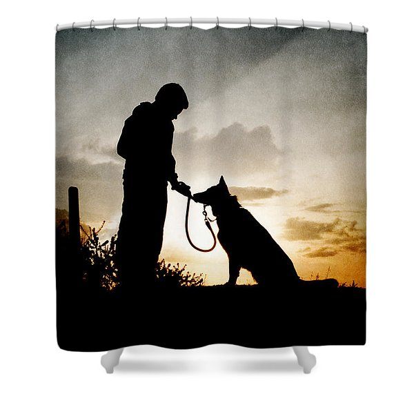 Boy And His Dog Shower Curtain