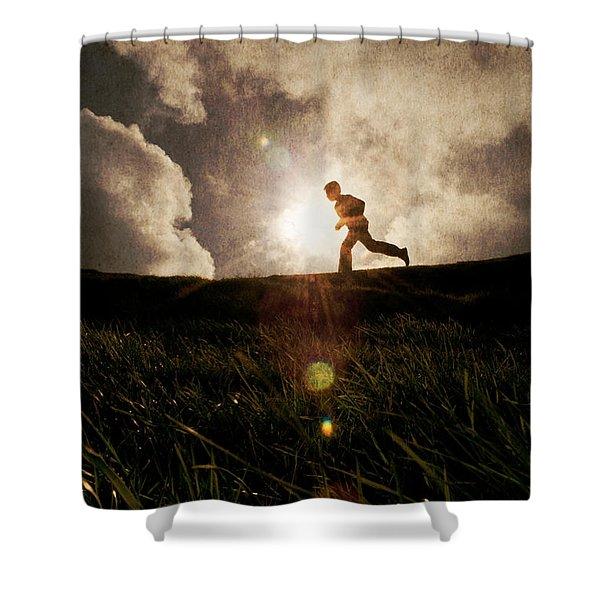 Boy Running Shower Curtain