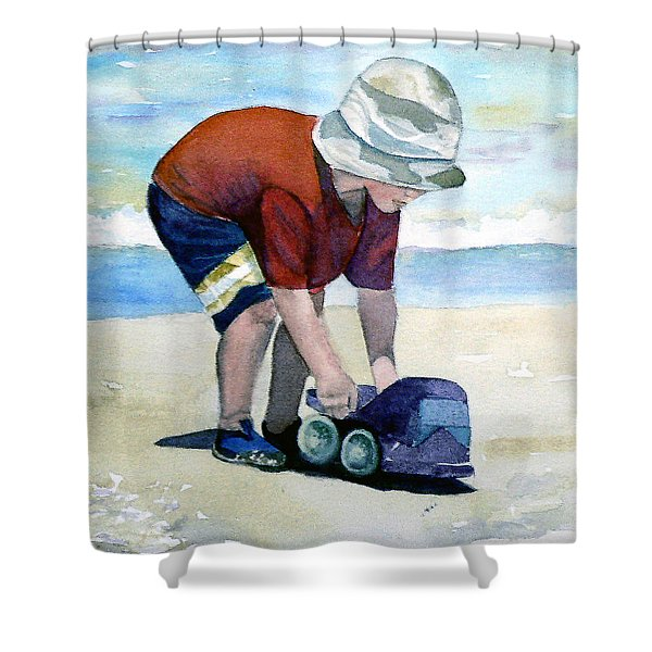 Boy With Truck Shower Curtain
