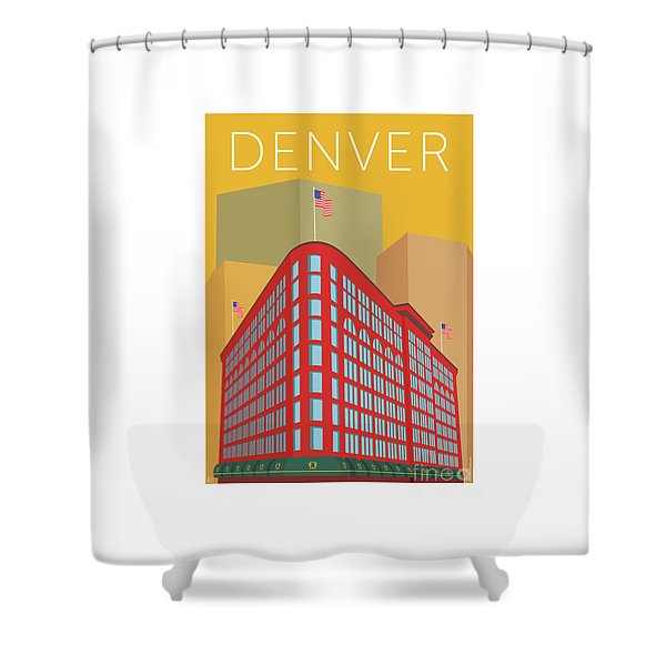 Denver Brown Palace/gold Shower Curtain