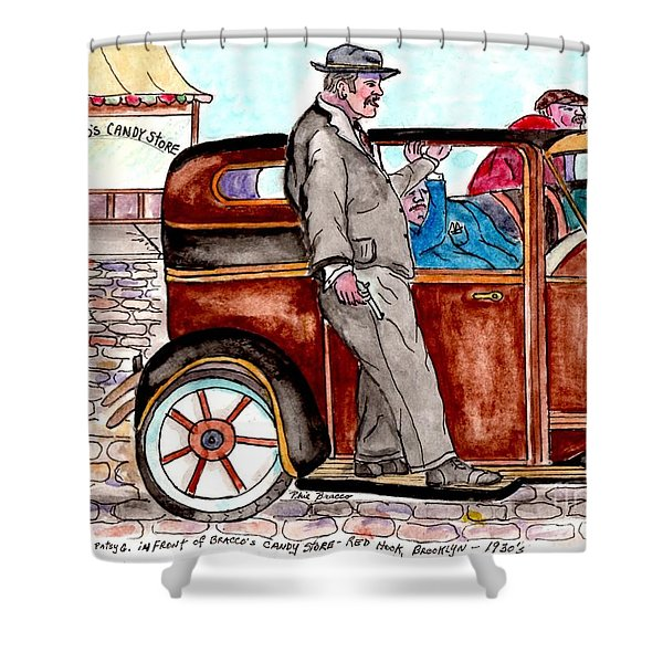 Bracco Candy Store - Window To Life As It Happened Shower Curtain