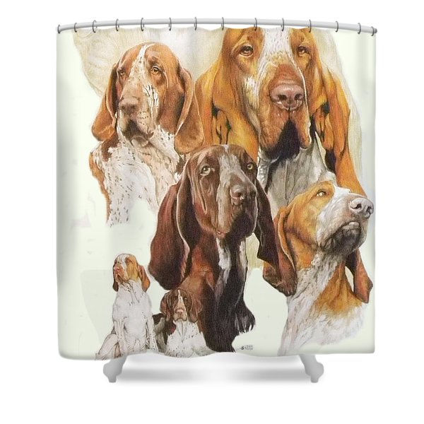 Bracco Italiano Medley Shower Curtain