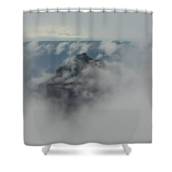 Brahma Temple In A Sea Of Clouds Shower Curtain