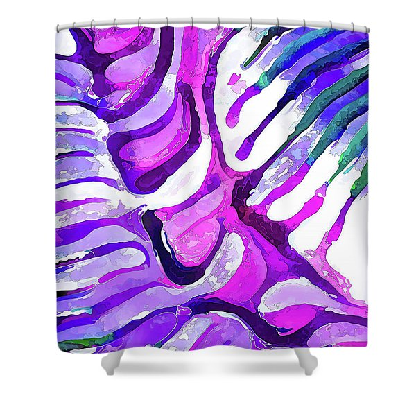 Brain Coral Abstract 4 In Purple Shower Curtain