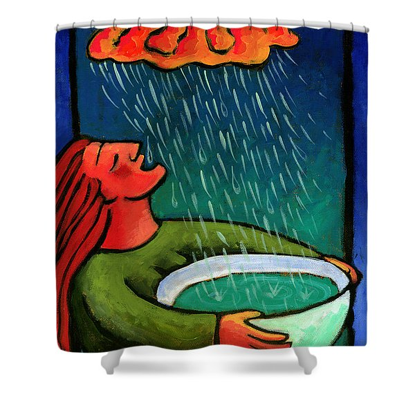 Brain Storm Painting 57 Shower Curtain