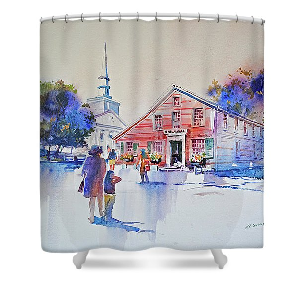 Bramhall's Corner Shower Curtain