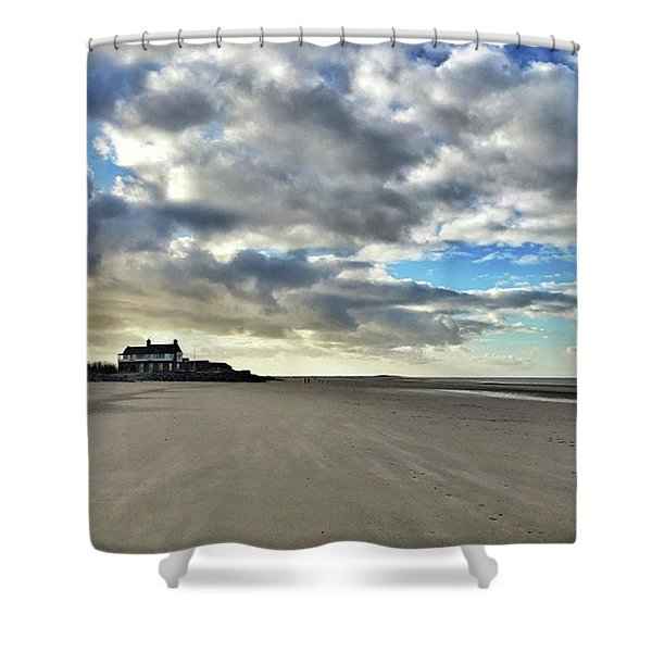 Brancaster Beach This Afternoon 9 Feb Shower Curtain
