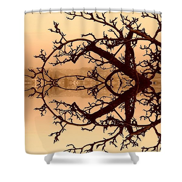 Branches In Suspension Shower Curtain