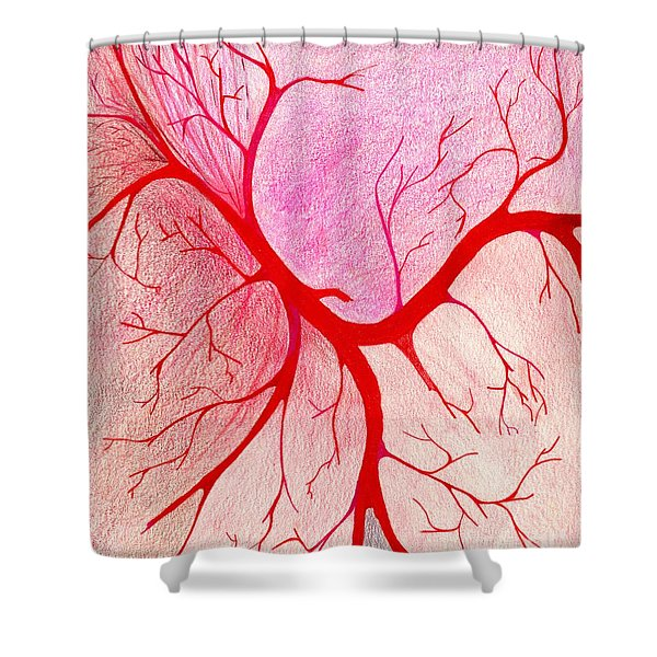 Branches Of Red Shower Curtain