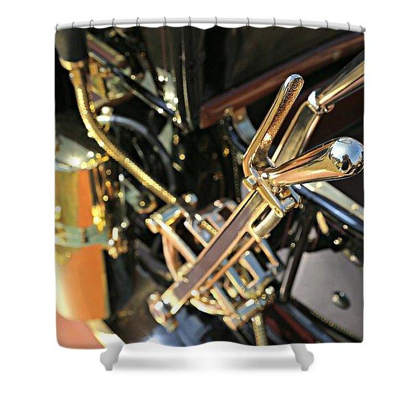 Brass Shifter Shower Curtain