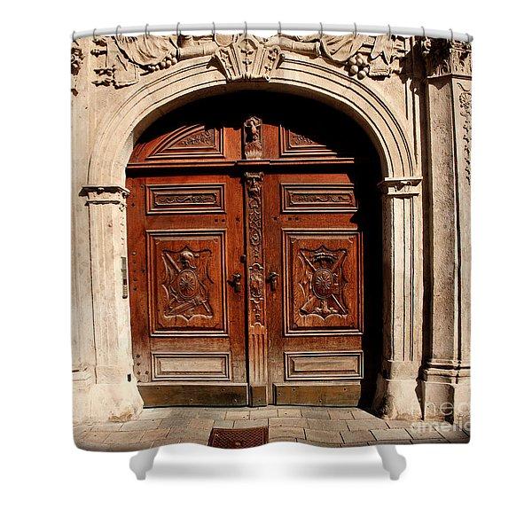 Bratislava Doors Shower Curtain