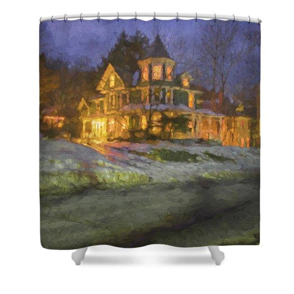Brattleboro Victorian II Shower Curtain