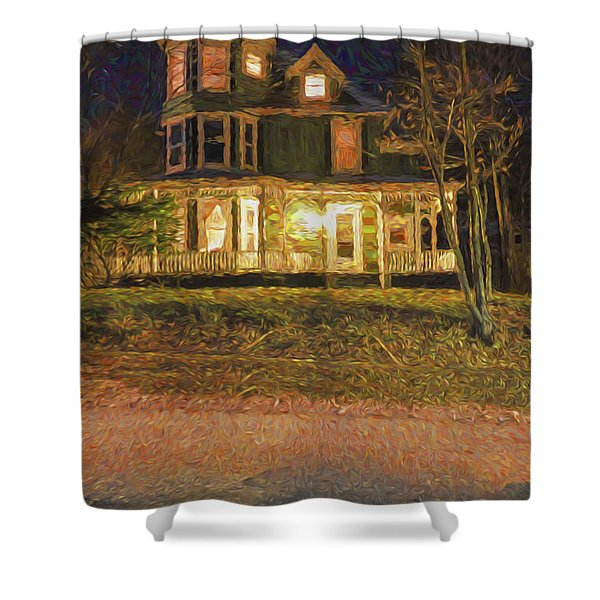 Shower Curtain featuring the photograph Brattleboro Victorian by Tom Singleton