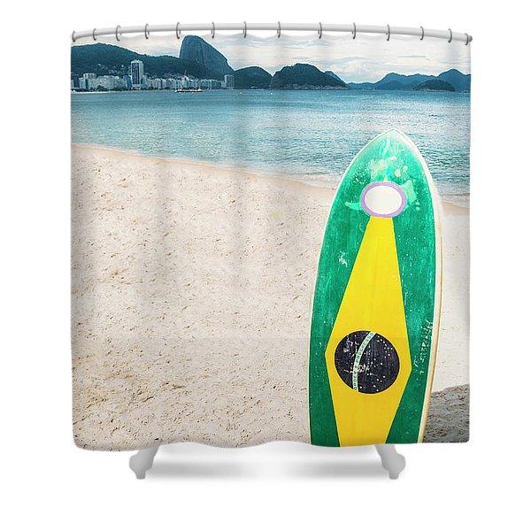 Brazilian Standup Paddle Shower Curtain