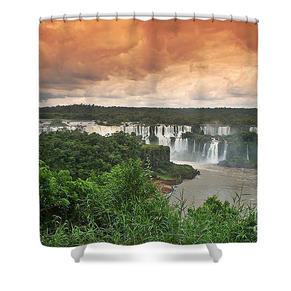 Shower Curtain featuring the photograph Brazil,iguazu Falls,spectacular View by Juergen Held