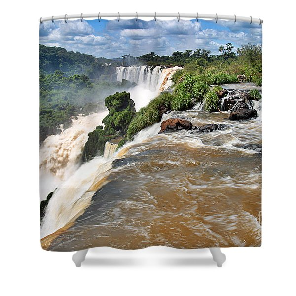 Shower Curtain featuring the photograph Brazil,iguazu Falls, by Juergen Held