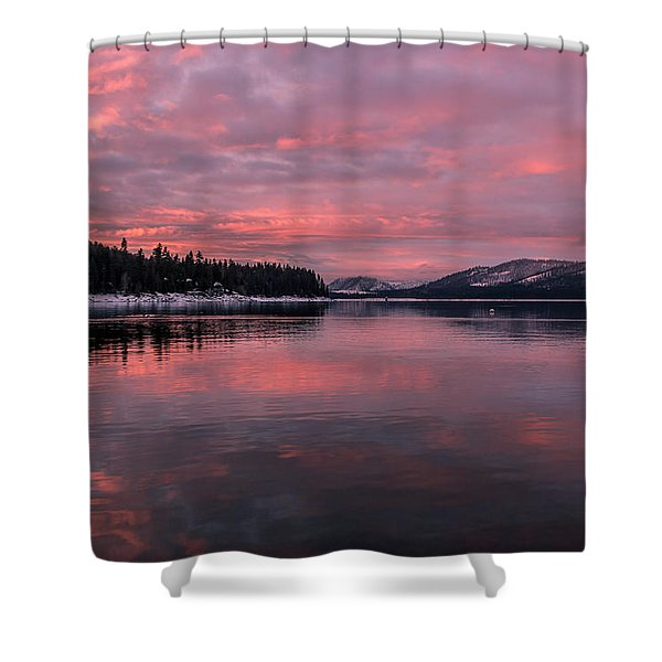 Breakfast Served Pink Shower Curtain