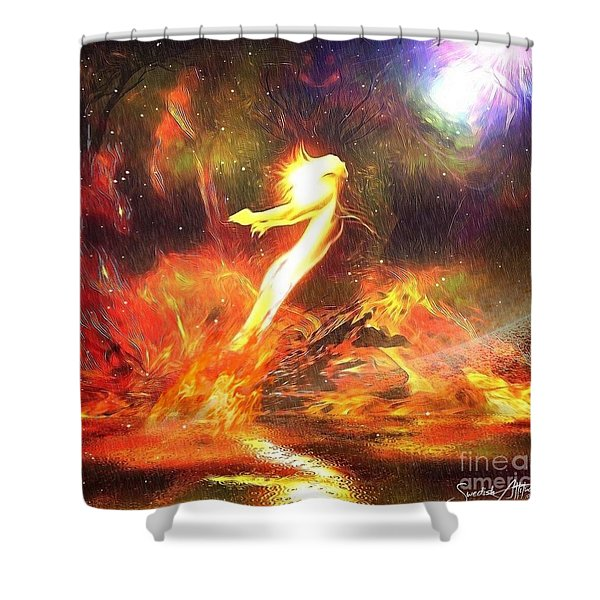 Breaking Free From The Past Shower Curtain