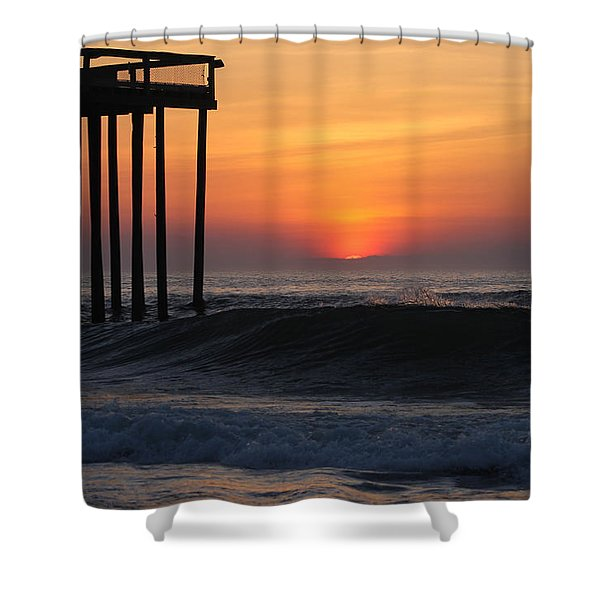 Breaking Sunrise Shower Curtain