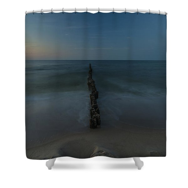 Breaking The Sea Shower Curtain