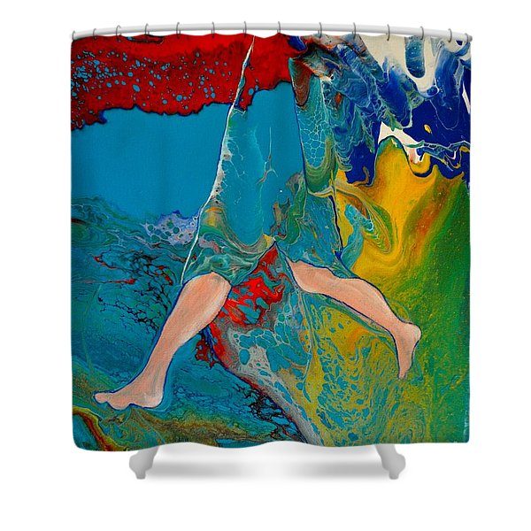 Shower Curtain featuring the painting Breaking Through by Deborah Nell