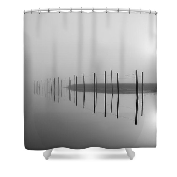 Breaking Through The Fog Shower Curtain