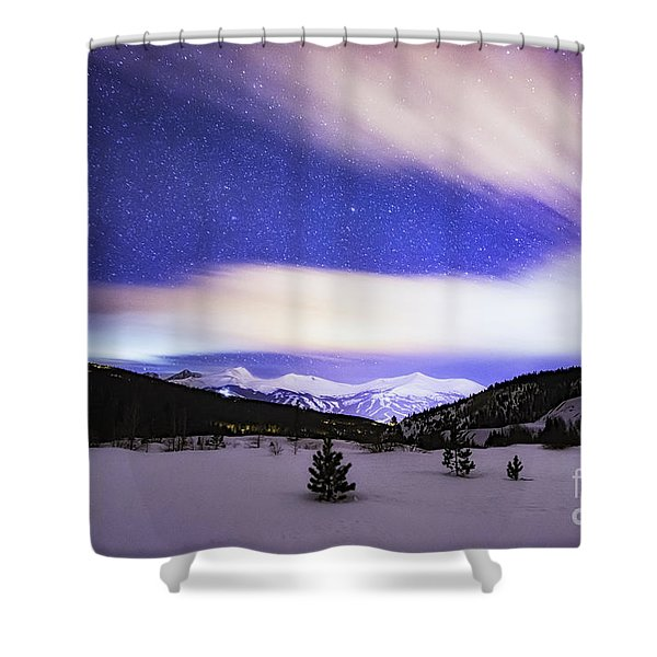 Breckenridge Blues  Shower Curtain