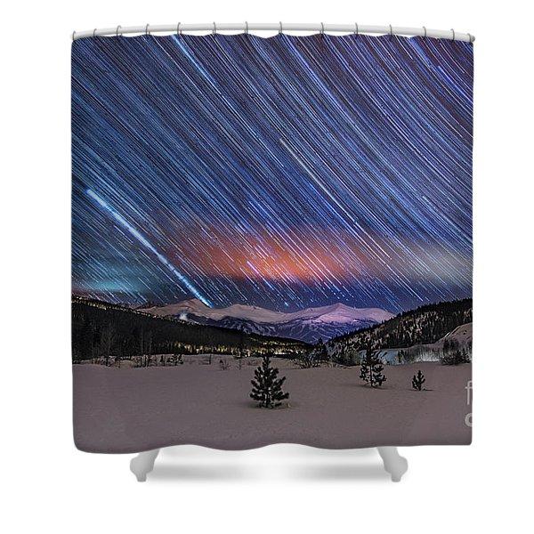 Breckenridge Trails  Shower Curtain