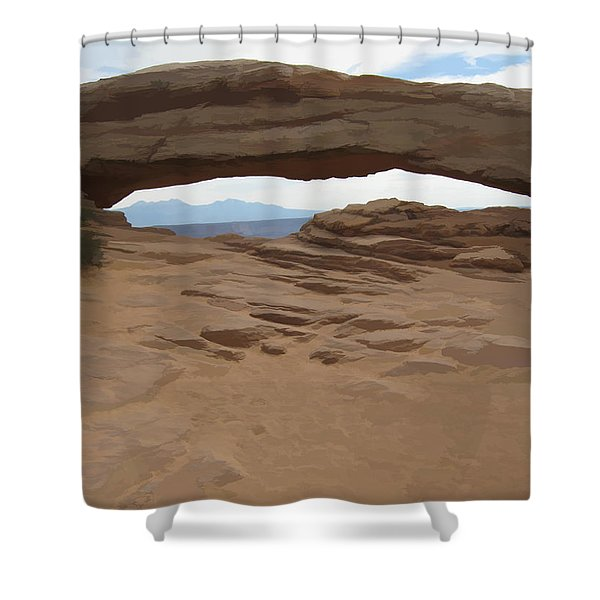 Breezy Bridge Shower Curtain