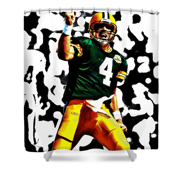 Brent Farve On Fire Shower Curtain