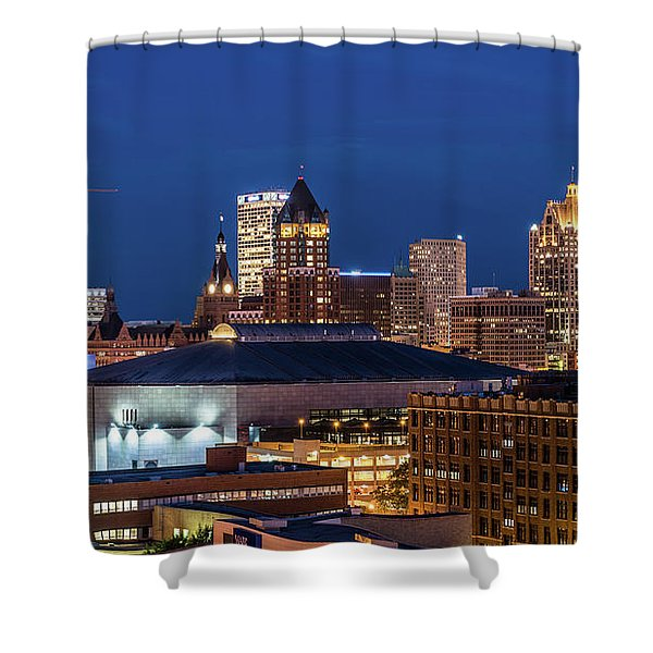 Brew City At Dusk Shower Curtain