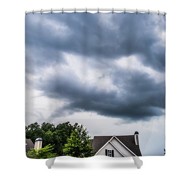 Brewing Clouds Shower Curtain