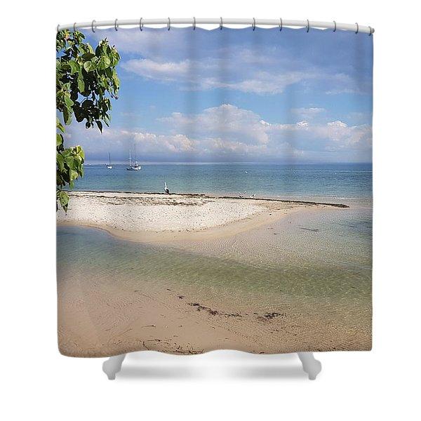 Bribie Island  Shower Curtain
