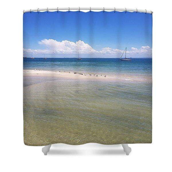 Bribie Waters Shower Curtain